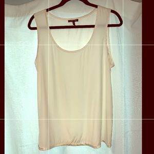 Eileen Fisher ivory silk tank top/blouse size L